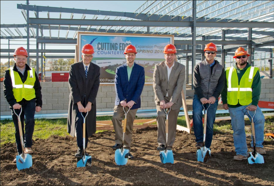 Cutting Edge held a groundbreaking event at the construction site on November 8.