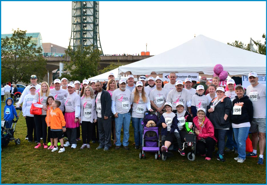 The Braxton-Bragg team out in force at the East Tennessee Race for the Cure event.