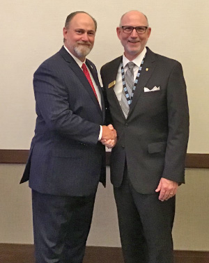 Left: Christopher Walker, new NTCA president, and Martin Howard, new NTCA chairman of the board