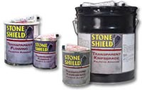 STONE SHIELD TRANSPARENT FLOWING & TRANSPARENT KNIFE GRADE ADHESIVE