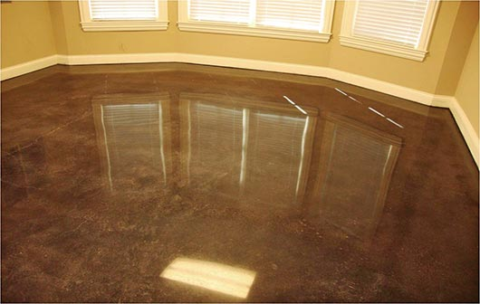 Dyed Concrete Flooring : Slippery rock gazette concrete dye or stain which is