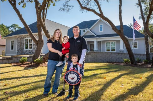 Bobby Dove and family at their new R.I.S.E. program home in Florida.