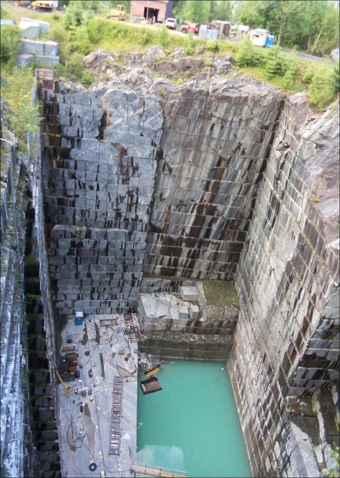 Vermont Verde Antique quarry, Rochester, Vermont