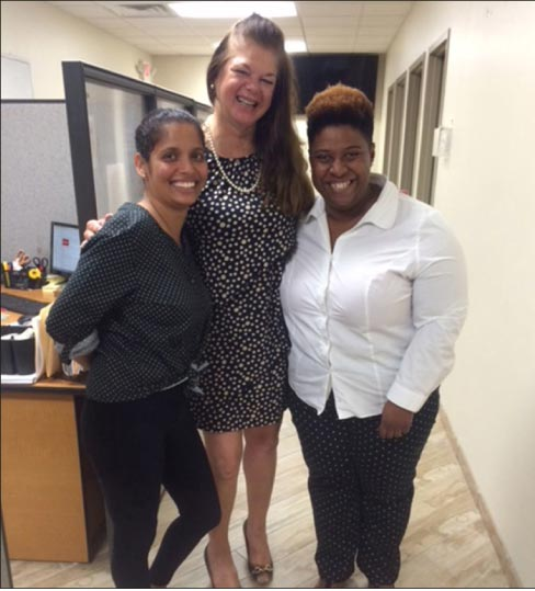 Left to Right: Prutha Patel, Outside Sales MSI;  Holly Nelson Outside Sales MSI; and Meica Kelly, Promoter MSI