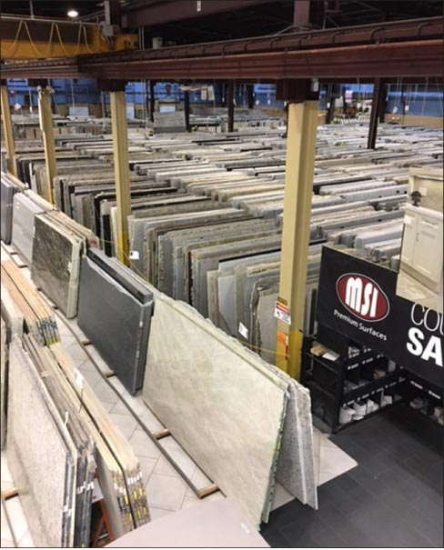 MSI offers a wide variety – over 1,000 slab material SKUs.