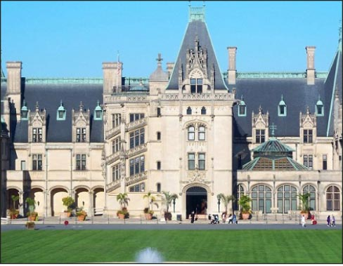 The Biltmore estate mansion in North Carolina is perhaps the most famous private residence in America. It was constructed with Indiana Limestone from the Dark Hollow quarry near Oolitic, Indiana.