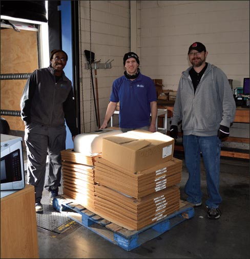 Braxton-Bragg donated a load of premium stainless steel sinks to the Knoxville Habitat for Humanity ReStore program.