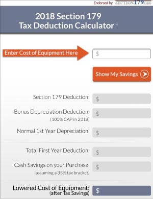 Section179.org is a good place to start if you had major equipment purchases in 2017, to deduct from your taxes.