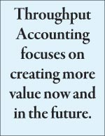 Throughput Accounting focuses on  creating more value now and  in the future.