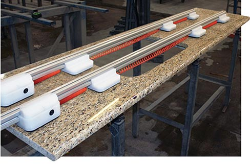 Stone Pro SR2 Vacuum Support Rail System