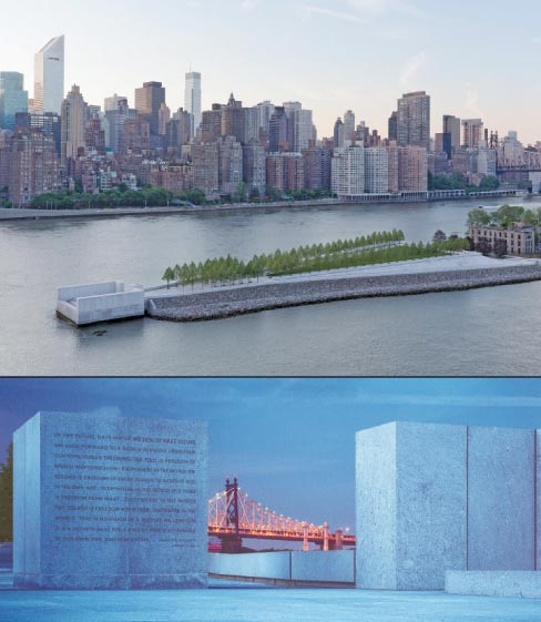 2013 Grande Pinnacle Award winner:  North Carolina Granite Corporation: Franklin D. Roosevelt Four Freedoms Park on Welfare Island, New York, NY.