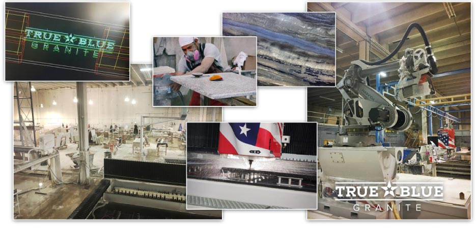 True Blue Granite has locations in San Antonio and Austin, Texas.