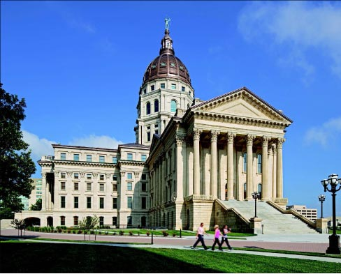 The original Kansas Statehouse was constructed over a 37-year period in three distinct phases, each reflecting subtle variations in tooling and ornamentation that was indicative of the changing immigrant mason workforce of the 19th century Midwest.
