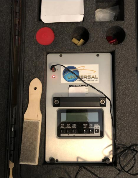 The BOT 3000 tribometer measures slip coeffivcient, and is an ANSI accepted measuring device.