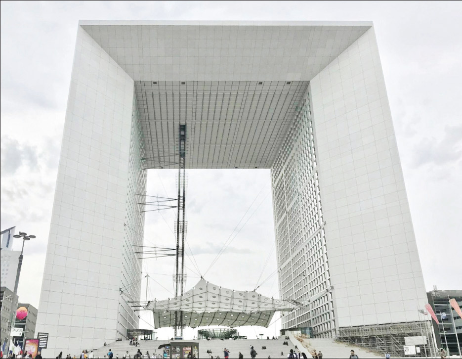 Commercial Exterior Grande Arche de la Defense  Paris, France