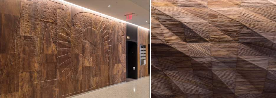 Award of Excellence – Architectural Carving/Lettering/Sculpture Arizona State University Barrett & O'Connor Washington Center  Washington, DC