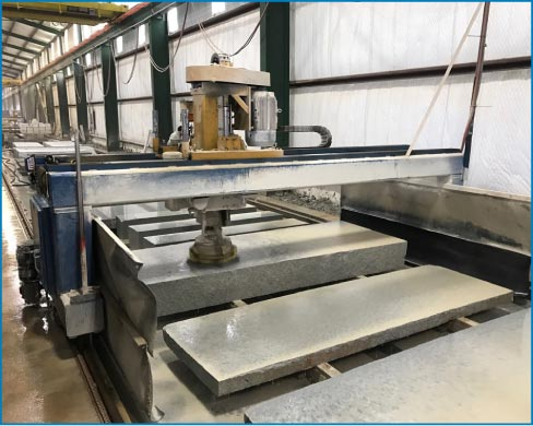 "Hillcrest Granite Company's  Wilson surface polisher is another machine that can run 24-7. Mark Hill: ""They know about stone and know what the machines need to do."""