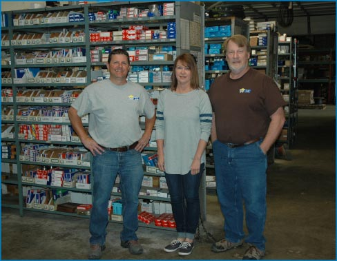 The Wilson parts  department helps keep customers supplied and up and running. Pictured left to right: Matt Moon, Tracy Maxwelland Darrell Burt.