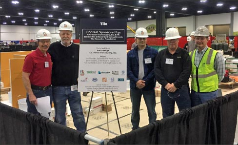 Organizers and supporters, from left: Scott Carothers, Ceramic Tile Education Foundation; John Roberts, John Roberts Design, LLC; Eric Shaddix, Specialty Tile Products, Inc.; Tod Canfield, Custom Building Products; Rod Owen, CC Owen Tile Company.
