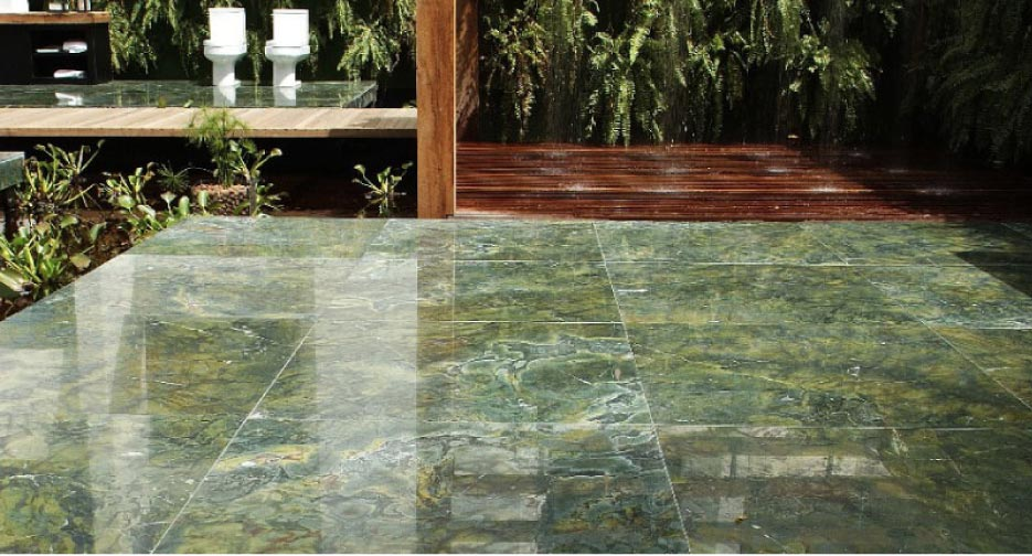 Large format flooring tiles: Is it marble or serpentine?