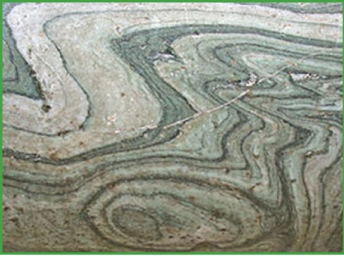 Beautiful, striped Cipollino marble from Greece