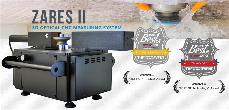 "The Stone industry quickly realized the potential of the Zares II.  It received top awards in both the ""Best of  Product"" and ""Best of Technology"" awards at TISE 2016."