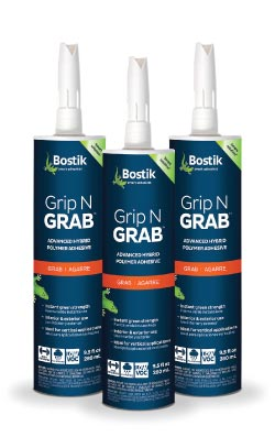 Bostik Introduces Grip N Grab for Vertical Applications