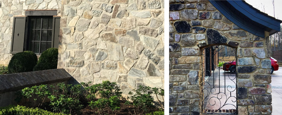 Weathered fieldstone is a native Tennessee stone that can be utilized in many shapes and sizes. The seam face offers many beautiful color variations.
