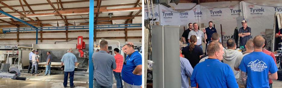 Networking on Facebook or face-to-face, and offering advice among their members spreads best practices and helps fellow fabricators find the best solution to common problems from mitering, to working with new materials, to chip repair.