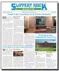 Download the July 2017 issue of Slippery Rock Gazette in PDF format