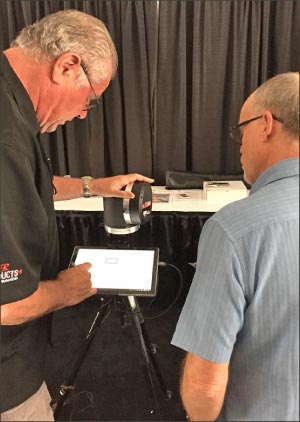 Laser Products Industries was on hand to demo the features of the LT-55 2D 3D templator.