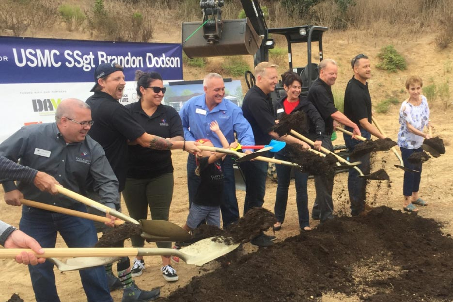Groundbreaking for the Dodson home, in Vista California.