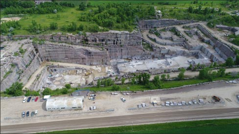 The Milbank Quarry in South Dakota  produces Carnelian® and Prairie Brown granite.