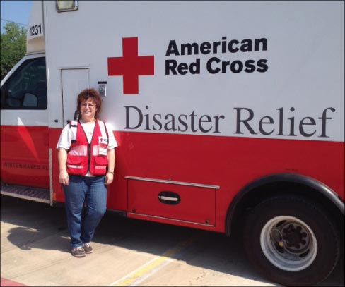 Jodi, on her most recent Red Cross deployment in Texas