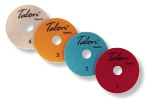 Long-wearing polishing pads with reduced steps like the Talon 4-Step for Quartz have helped revolutionize manual edge polishing, reducing the time and labor significantly.