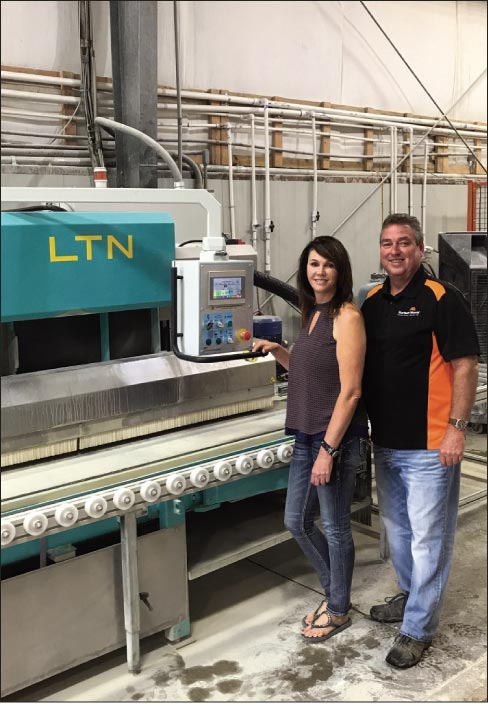 At Surface World in Athens, Ala., Owners Jill and Glenn Parks have a LTN-621 & LCH-711M-OV machine.