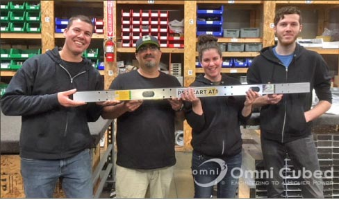 A happy production crew in the assembly shop –  they love building Pro-Carts!