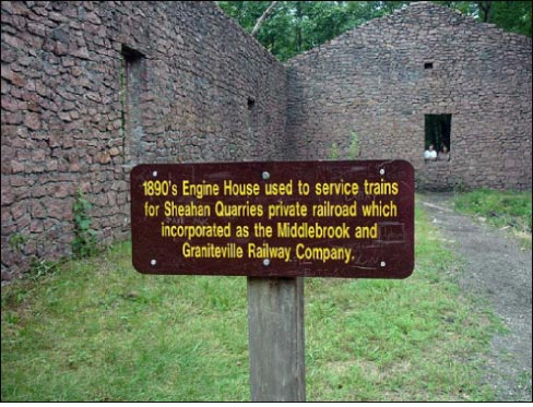 At Elephant Rocks State Park, some of the original quarry buildings are still partially standing and give a glimpse into the history of the quarry.