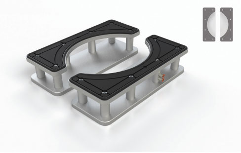 The Blick Sink Suction Cup set is designed for vanity top production.