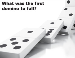 What was the first domino to fall?