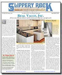 Download the September 2014 issue of Slippery Rock Gazette in PDF format