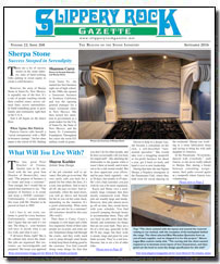 Download the September 2016 issue of Slippery Rock Gazette in PDF format