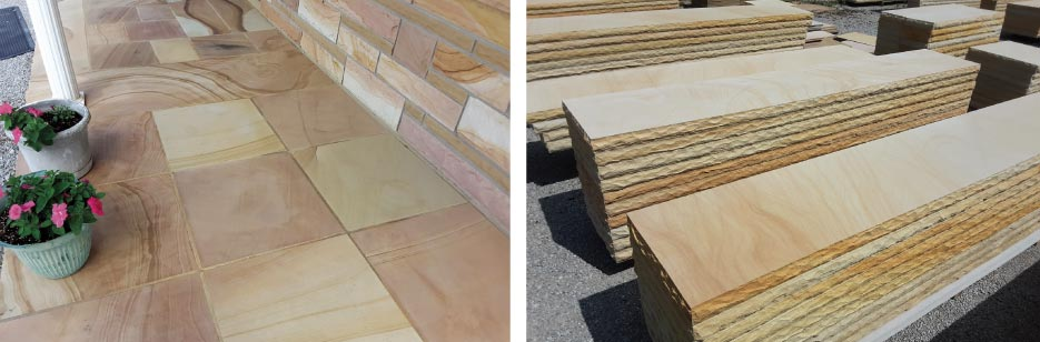 """We offer a full line of sawn products from standard to very custom, including countertops, bullnose pool coping, sills, water tables, flooring, flagstone, fieldstone, landscaping, stone, a full line of thin veneer products, as well as Stone Age modular fireplace and fire pit products,"" said Anne."