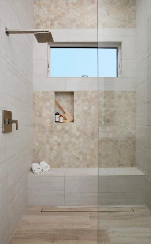 Arizona Tile's certified R11 anti-slip coated tile is perfect for shower installations.