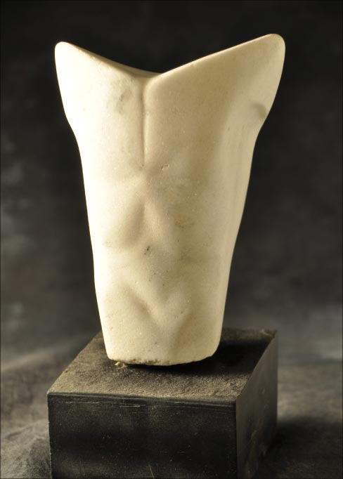 """Torso,"" Ucci's first carving done in marble, in the studio with Don Meserve."