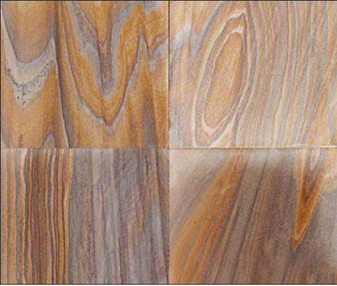 Rainbow Teak sandstone is beautiful but also very porous.