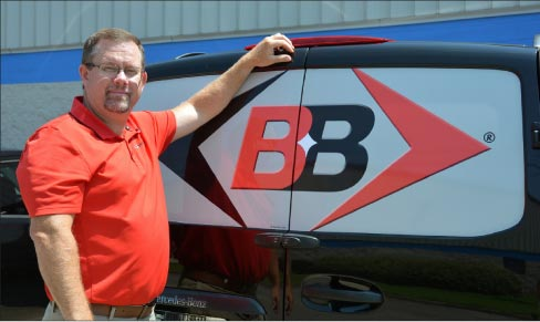 Todd Chapman of Braxton-Bragg is on the road  in the Viper Van, delivering direct to customers in the Southeast.