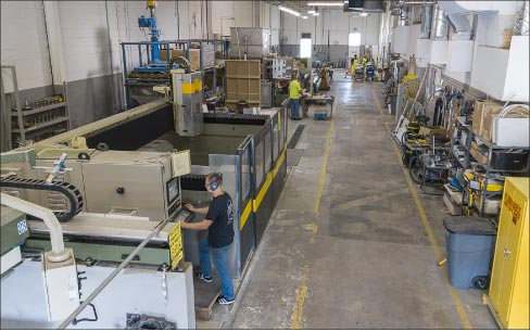 Training and testing area at Alpha® headquarters includes a full complement of machines you might find in a stone shop, and is an important part of their development program.
