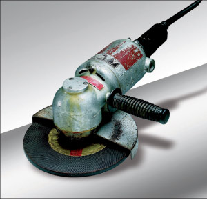 """Das Original"" is the c. 1954 FLEX grinder which modern modern stone grinders are modeled after."