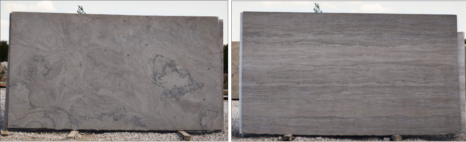 Above: Phenix Fleuri and Napoleon vein cut slabs